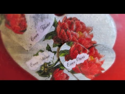 decoupage tutorial – cuore in legno decorativo per san valentino