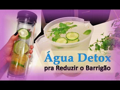 Receita detox para reduzir medidas abdominais