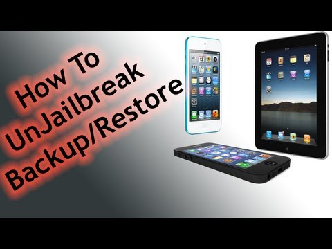 Ipod Touch - Full tutorial on how to unjailbreak the iPhone, iPad and iPod touch. Also showing you how to backup and restore your iOS devise to factory settings. Full How...