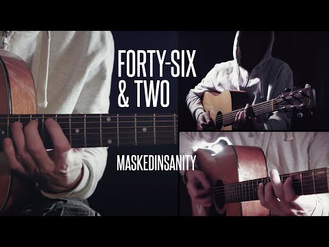 Tool 'Forty-Six & Two' Acoustic Guitar Cover By Maskedinsanity