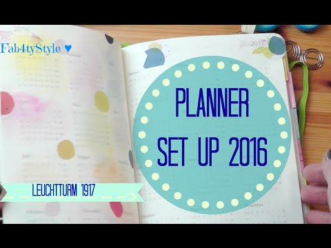 Planner Set Up 2016 ♥  mein Leuchtturm Kalender I Moleskine umgestalten