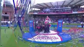 England is presented with the 2017 ICC Women's World Cup