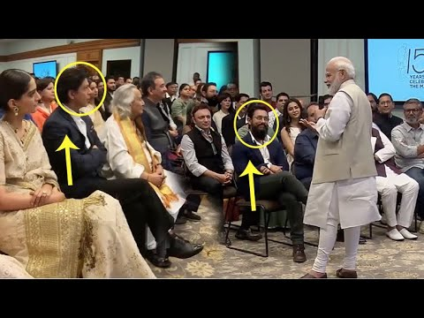 See What PM Modi Said In Front Of Aamir Khan, Shahrukh Khan & Bollywood Film Fraternity!