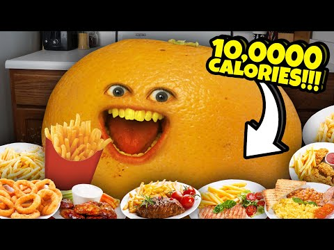 Annoying Orange - The 10,000 Calorie Challenge!