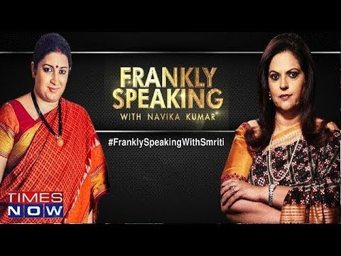 Frankly speaking with Smriti Irani | Full Exclusive Interview