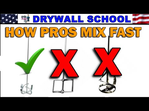 How to MIX DRYWALL MUD like the pros, and a cheap alternative