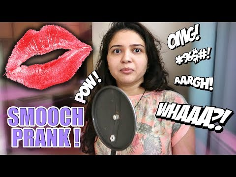 INDIAN WIFE ON CAMERA SMOOCH PRANK ! #KissBait