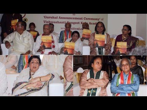 Lata Mangeshkar & Hariprasad Chaurasia At Sangeet Gurukul In Vishwashanti Sangeet Kala Academy