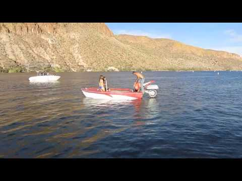 Ridin' and Floatin' Motorcycle Boat! With Bikini Babes!
