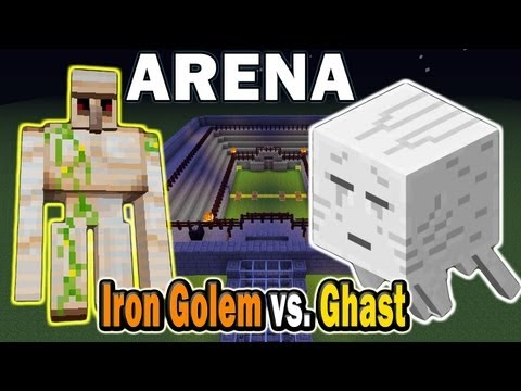 Minecraft Arena Battle Iron Golem vs. Ghast
