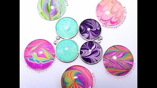 How To Make Your Own Watermarble Jewellry - YouTube