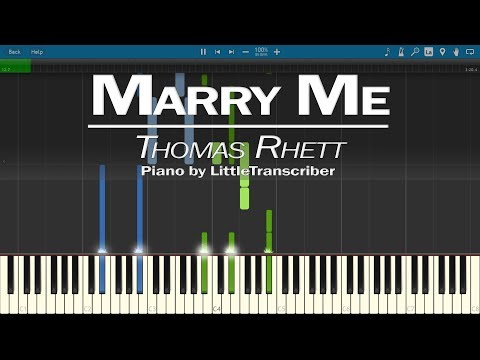 Video Thomas Rhett - Marry Me (Piano Cover) by LittleTranscriber download in MP3, 3GP, MP4, WEBM, AVI, FLV January 2017