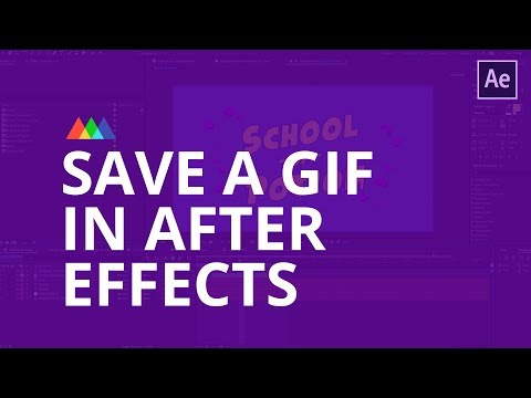 How To Create A GIF Using After Effects