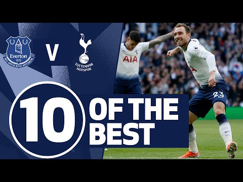 10 OF THE BEST | SPURS BEST GOALS V EVERTON | Ft. Eriksen, Kane & Kanoute!