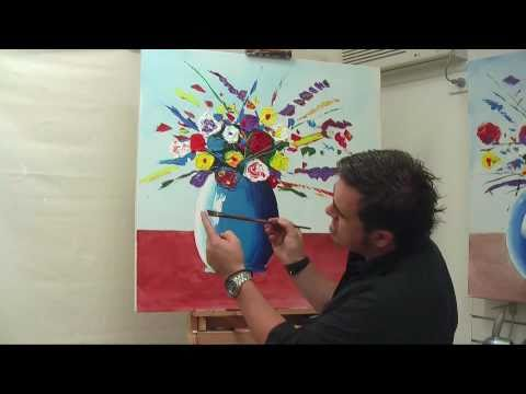 flower painting - Joe from Mont Marte takes you through the simple steps of creating a fantastic Abstract vase using Acrylic paints. http://montmarte.net/mont_marte_tv?channel...
