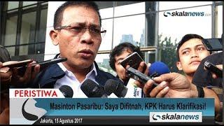Skalanews.com - Anggota Komisi III DPR RI dari Fraksi Partai Demokrasi Indonesia Perjuangan (PDIP), Masinton Pasaribu menyambangi Komisi Pemberantasan Korupsi (KPK), guna meminta klarifikasi terkait rekaman pemeriksaan Miryam S Haryani yang diputar di persidangan pada Senin (14 Agustus 2017).Masinton mengaku kedatangannya ke KPK atas inisiatif sendiri. Dia mengatakan ingin menemui perwakilan KPK, terkait penyebutan namanya dalam rekaman video pemeriksaan Miryam tersebut.[Risman Afrianda]Video: Deni HardimansyahVideo Editing: Danu NugrohoMusic: Motivational and Inspiring