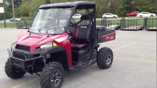 9. 2013 Polaris Ranger XP 900 with EPS LE in Sunset Red with Polaris Pro Fit Windshield and Top