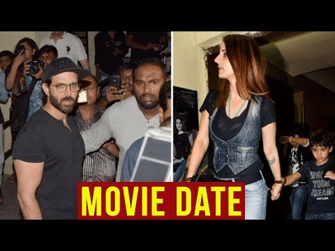 Ex Couple Hrithik Roshan And Sussanne Khan On A Mo