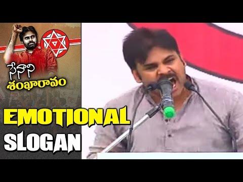 Pawan Kalyan Emotional Slogan Over Special Status @ Janasena Prasthanam