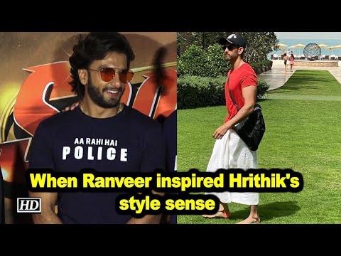 When Ranveer Singh inspired Hrithik Roshan's style sense