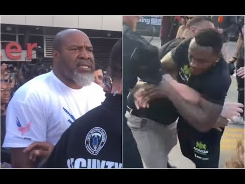 SHANNON BRIGGS & VIDDAL RILEY FIGHT PUNCH UP OUTSIDE L.A. KSI & LOGAN PAUL SECOND PRESS CONFERENCE!