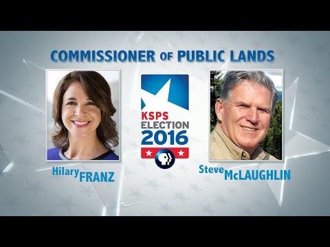 WA Commissioner of Public Lands Debate