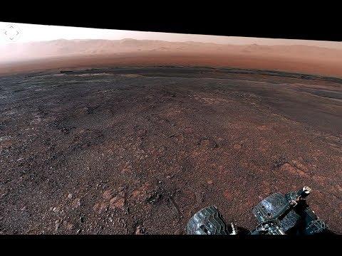 NASA опубликовало сделанную марсоходом Curiosity панораму Марса