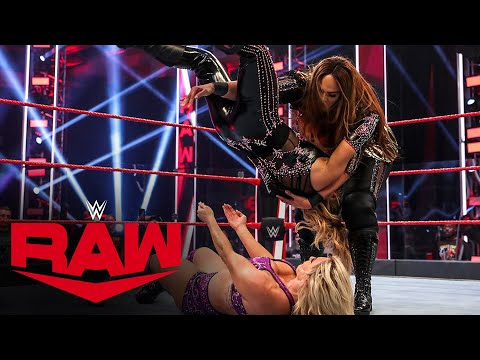 Charlotte Flair vs. Natalya vs. Nia Jax – Winner Challenges Asuka at WWE Backlash: Raw… видео