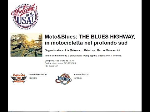 Video Moto Blues THE BLUES HIGHWAY, in motocicletta nel profondo sud (12-1-2017)