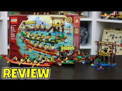 LEGO Dragon Boat Review - Special Chinese New Year Edition - Set # 80103