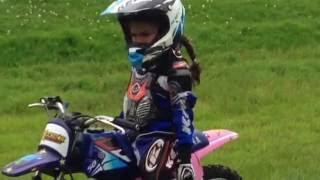 10. Girl 5 year old  on Yamaha PW50