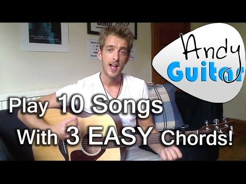 Play 10 guitar songs with 3 EASY chords | E, A and D
