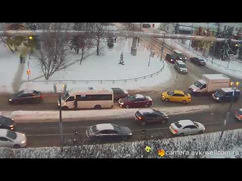 Авария маршрутки и газели  09.02.2018 в г.Котельники