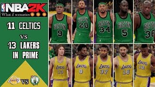 NBA2K scenarios: What if the 2011 Celtics played the 2013 Lakers in their primes?