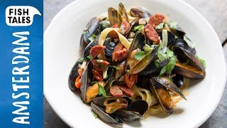 MUSSELS & Chorizo Pasta | Bart van Olphen by Bart's Fish Tales