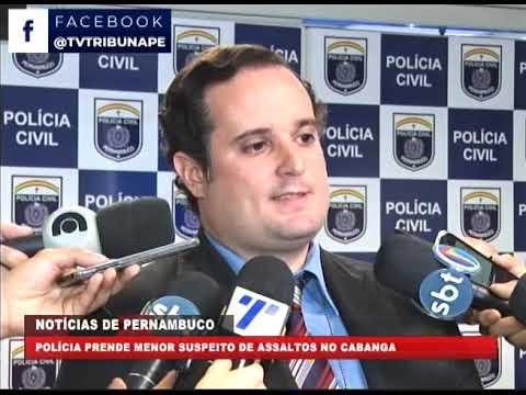 [BRASIL URGENTE PE] Polícia prende menor suspeito de assaltos no Cabanga