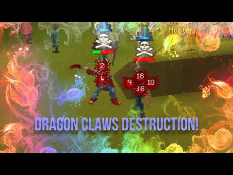 Jokes - I'M UNSTOPPABLE! - Maxed 60 Attack Piety Dragon Claws Pking With Commentary