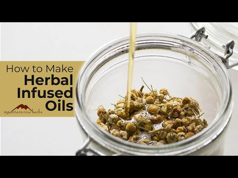 Oils - http://www.mountainroseherbs.com/ Learn how to make herbal infused oils that you can use for herbal salve, lip balm recipes, or by itself as an herb oil. In ...