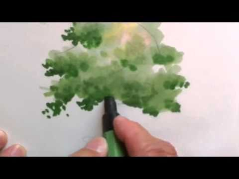 drawing trees with markers
