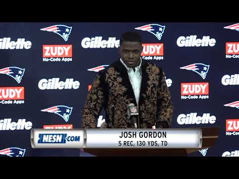 Video: Josh Gordon Week 9 Packers vs. Patriots Postgame Press Conference