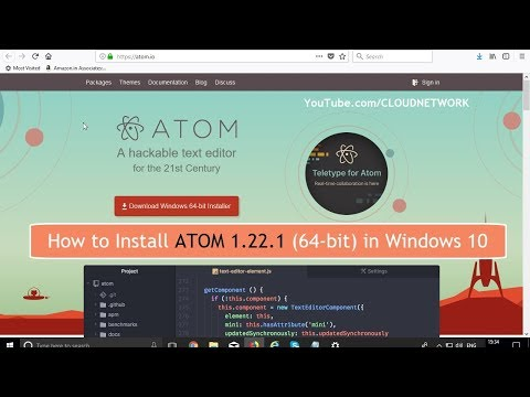 How to Download & Install ATOM 1.22.1 (64-bit) in Windows 10 Fall Creator Update