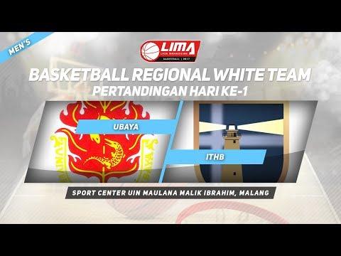 UBAYA vs ITHB di LIMA Basketball Regional White Team 2017 (Men's)