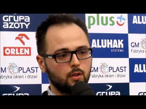 Konferencja prasowa po meczu Chemik Police - Tauron Banimex Dąbrowa G.