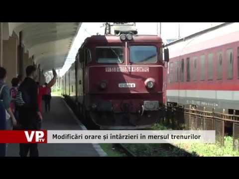 Modificări orare și întârzieri în mersul trenurilor