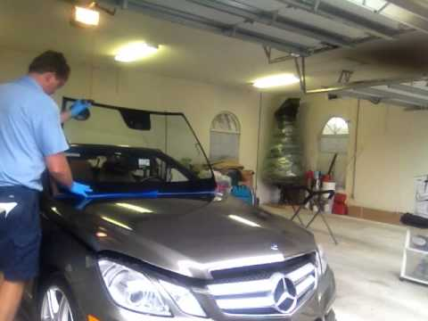 How to replace 2011 Mercedes E550 Convertible Windshield Set with Rolladeck