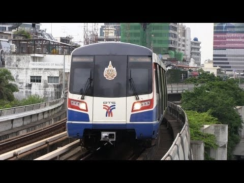 BTS - BTS Skytrain Bangkok Thailand 2012. BTS Skytrain (Thai: รถไฟฟ้าบีทีเอส rot fai fa BTS), is an elevated rapid transit system in Bangkok, Thailand.