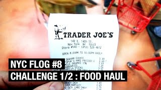 FOOD HAUL ! Trader Joe's Challenge 1/2  |  NYC FLOG #8 by Alex French Guy Cooking