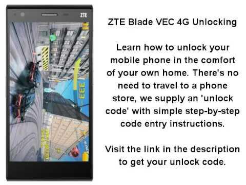 Unlock ZTE Blade Vec 4G By Unlock Code