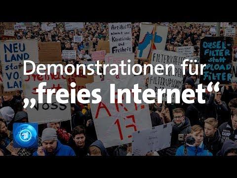 LIVE: Protest gegen Upload-Filter und Artikel 13