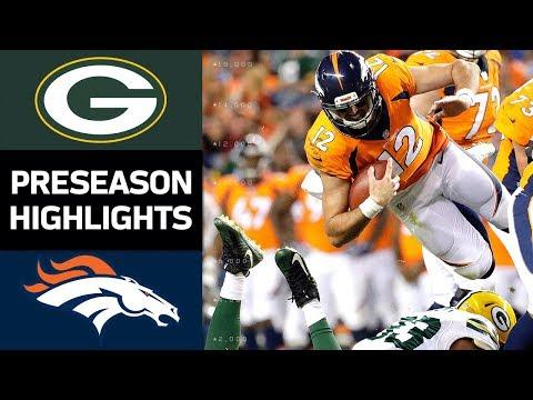 Packers vs. Broncos | NFL Preseason Week 3 Game Highlights - Thời lượng: 8:10.